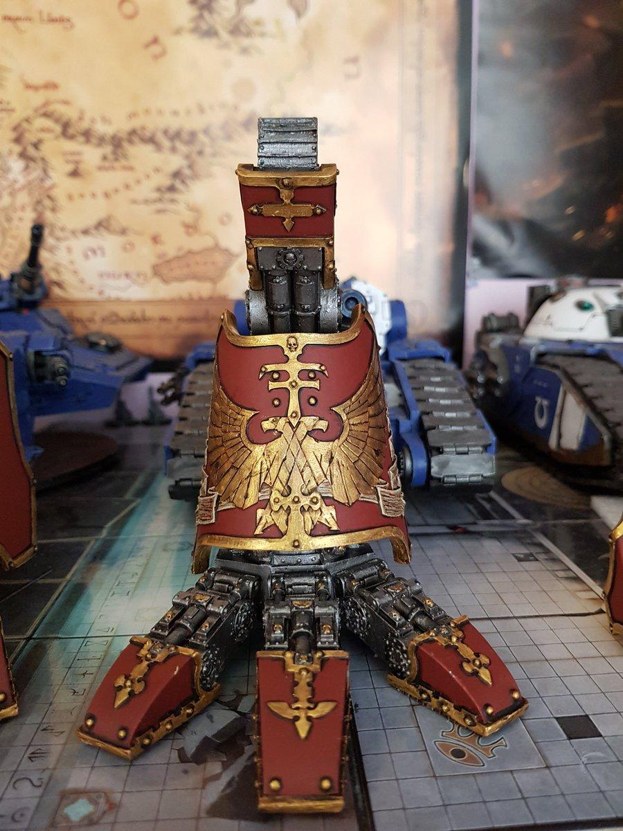 Another foot for my hound is done #warwardens #Warmongers #WarhammerCommunity #warhoundtitan #warhammer40k #wh40k #legioatarus https://t.co/FDCPq645Eu