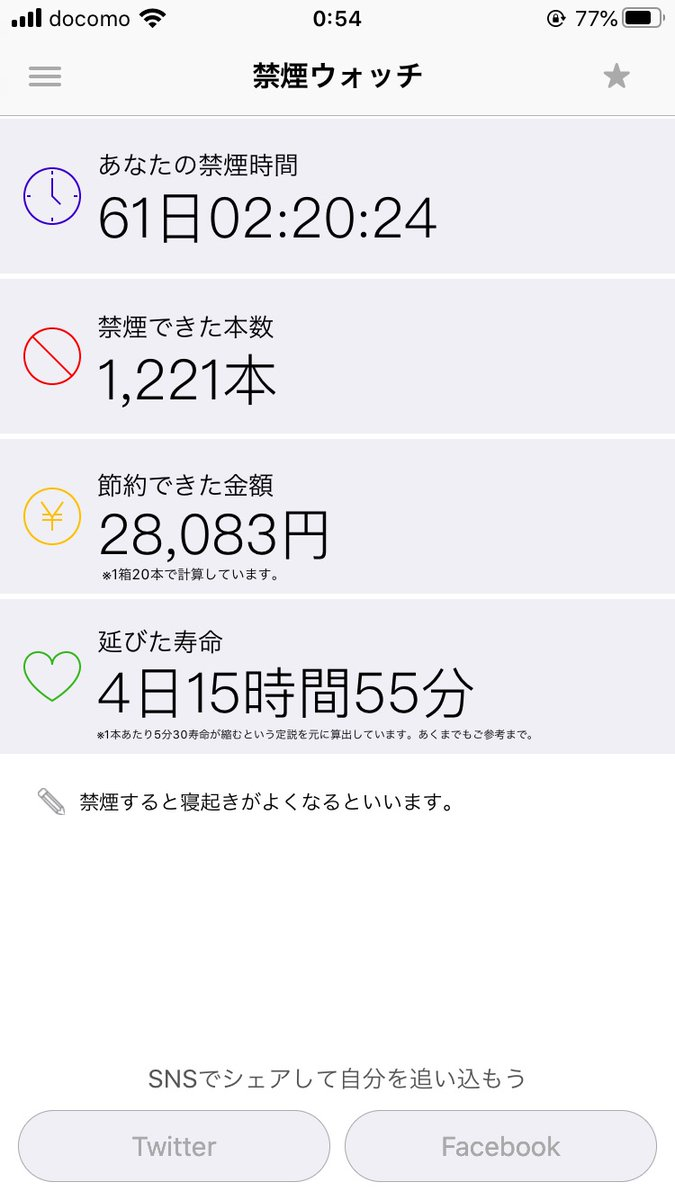 禁煙60日経過 ー アメブロを更新しました #たばこ https://ameblo.jp/road-to-a-gambler/entry-12610638117.html?timestamp=1594569844…pic.twitter.com/1tbBdfKVTQ