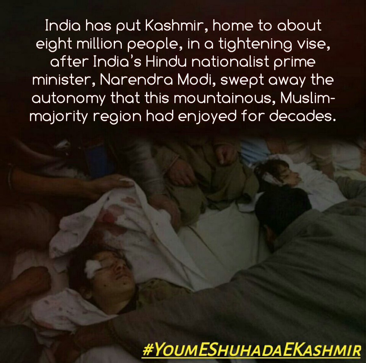 The exemplary perseverance, commitment and bravery has become a beacon of hope and faith for all Kashmiris. #YoumEShuhadaEKashmir<br>http://pic.twitter.com/iiPhSztV9h