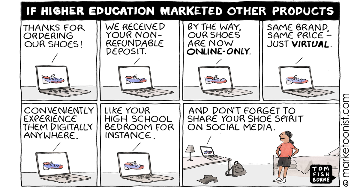 """""""The Value Proposition and Lessons from Higher Education"""" - new cartoon and post https://t.co/5slh42DjWh #marketing #cartoon #marketoon https://t.co/wYTgZ1HZk1"""