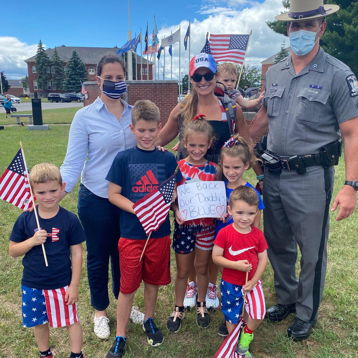 Loved meeting with hundreds of families in Plattsburgh who support our North Country law enforcement 🇺🇸💙 #NY21