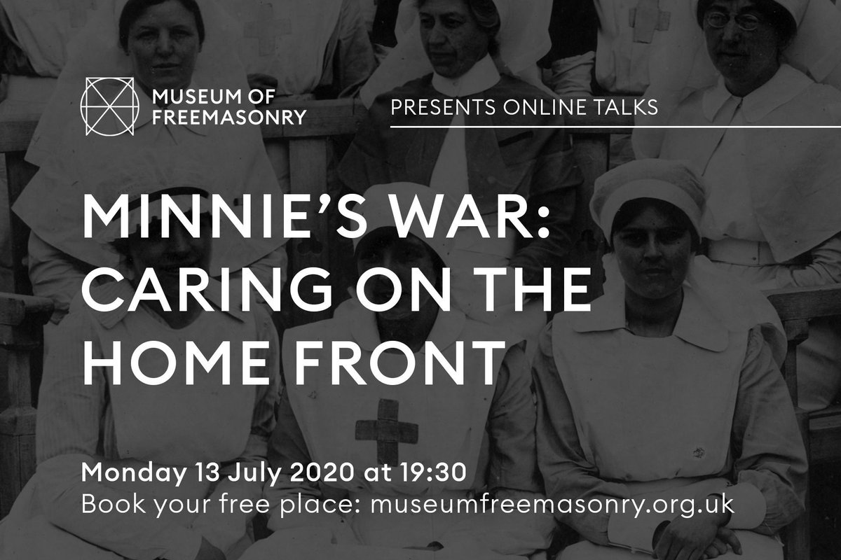 We have another free talk for you 📣  Discover the fascinating story of Minnie Evelyn Windemer, Matron of the Freemasons' War Hospital from 1916 to 1919.  Places are filling up fast so book your spot today 👉 https://t.co/vA8FNsjGK3  #NursesUK #Clapforcarers #NHSnurses https://t.co/erpQQlHlxh