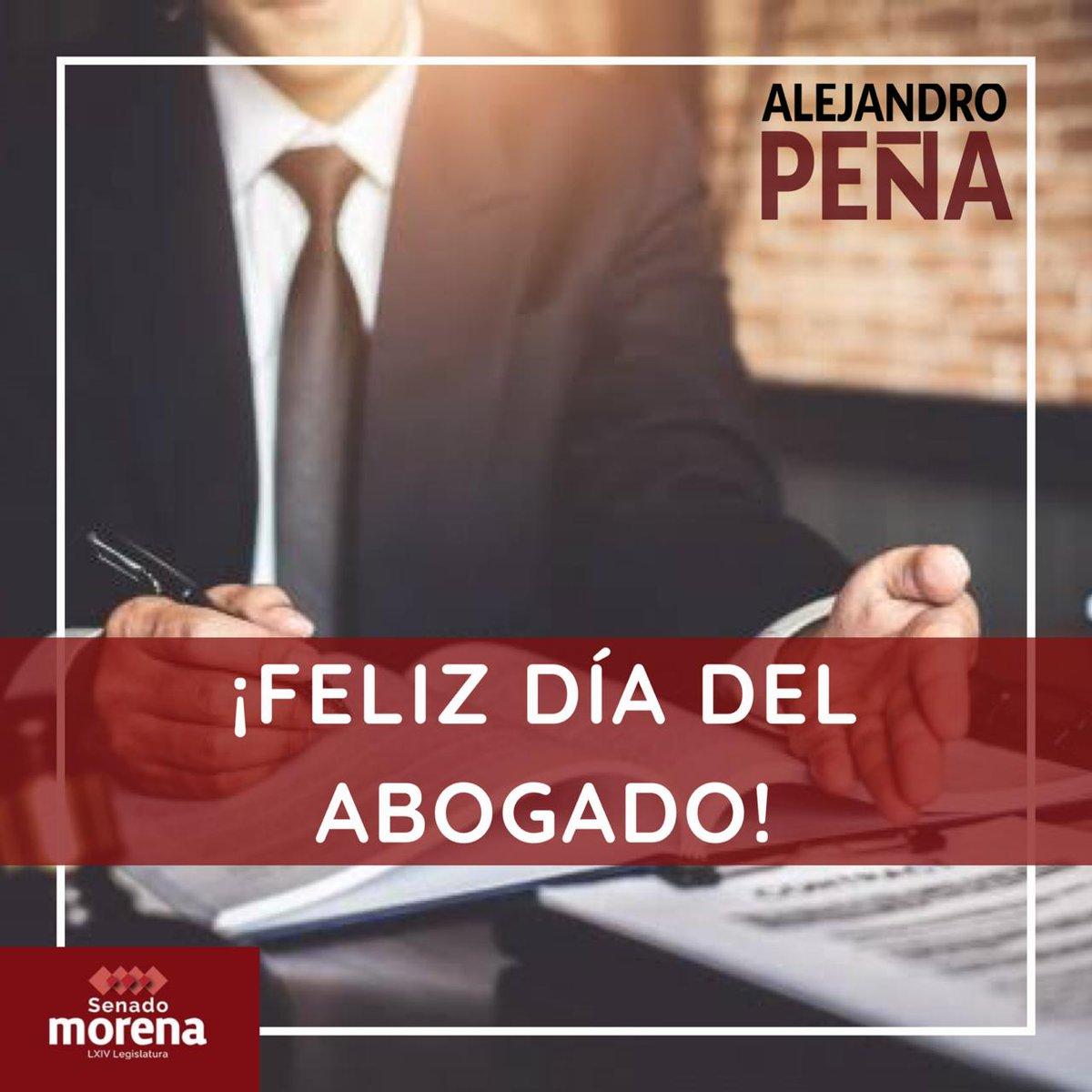 Mis felicitaciones para todas las abogadas y abogados que día a día con su profesionalismo y trabajo luchan por la justicia en México. 🇲🇽 #FelizDíaDeLaAbogadaYElAbogado #JuntasYJuntosSeguiremosHaciendoHistoria https://t.co/EaNIyL4gT9