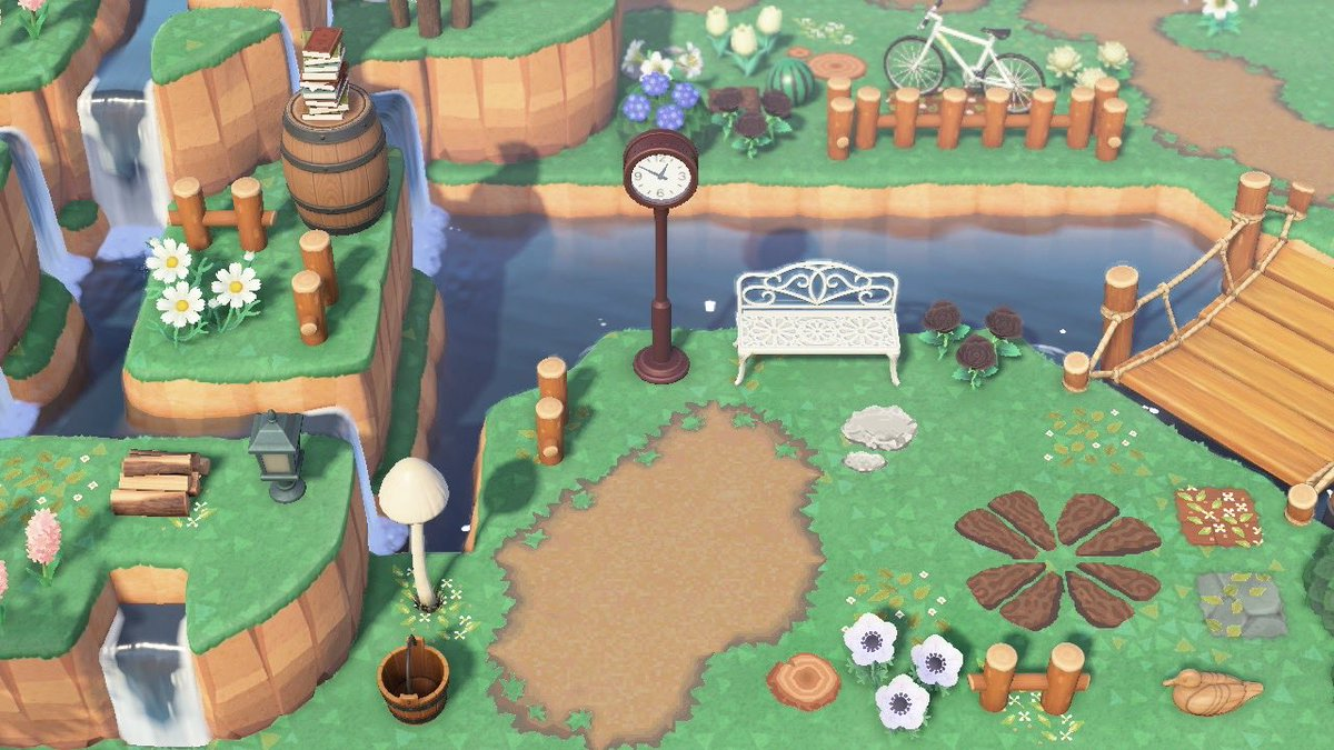 I redid my entrance and I think i'm actually happy with it :) #AnimalCrossingNewHorizons #acnh #ACNHDesign pic.twitter.com/haGVx61Yq8