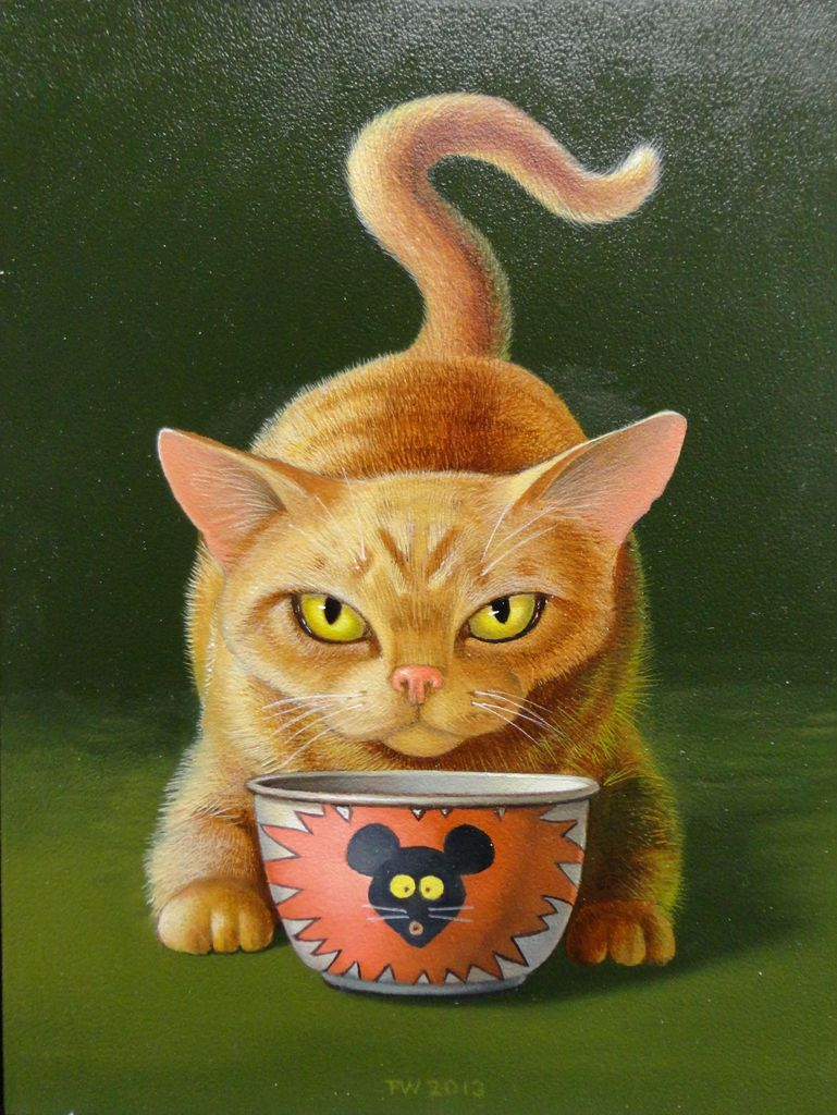 🐈 'Kat en Muis' 🐁 🎨 © Frank Warmerdam
