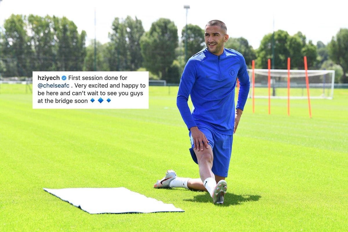 """""""Primer entrenamiento en Chelsea. Estoy muy emocionado y feliz de estar aquí. No puedo esperar a verlos en Stamford Birdge"""".  Ya se ganó mi corazón 💙 https://t.co/dxzFUV5g3v"""