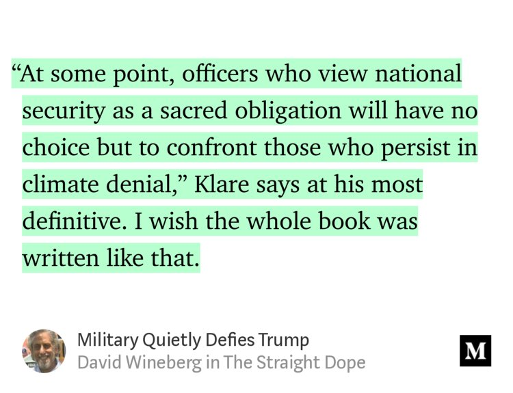"""""""Military Quietly Defies Trump"""" by @davidwineberg https://t.co/7wNNRdNSP3 https://t.co/1azvLrYj70"""