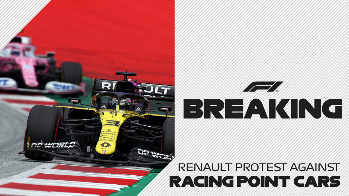 BREAKING: Renault have lodged an official protest about the legality of the 2020 Racing Point F1 car  #F1 https://t.co/4PWXPMqkmJ