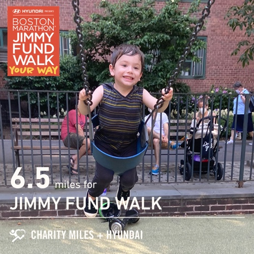 6.5 @CharityMiles for @TheJimmyFund. #TogetherAgainstCancer