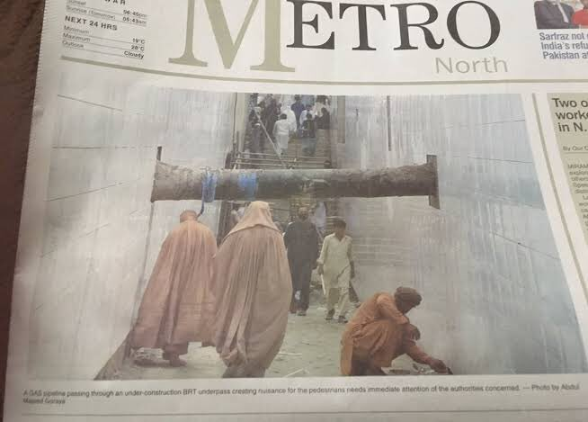 There was so much propaganda on this BRT picture having temporary gas pipleline which was supposed to be removed. Media continued discussing this for atleast one week. I have literally been craving to see awesome images on media which I can see on social media, still a wish..