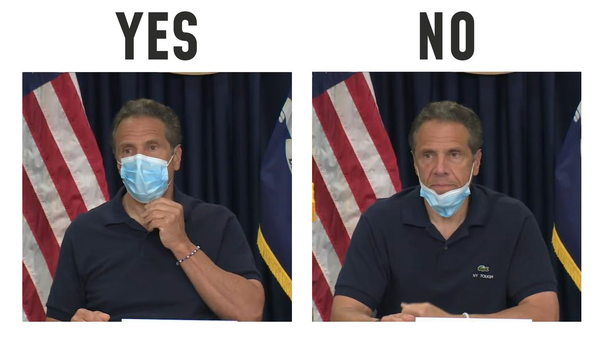 Andrew Cuomo On Twitter One Is A Mask The Other Is A Chin Guard No One Told You To Wear A Chin Guard Wear A Mask