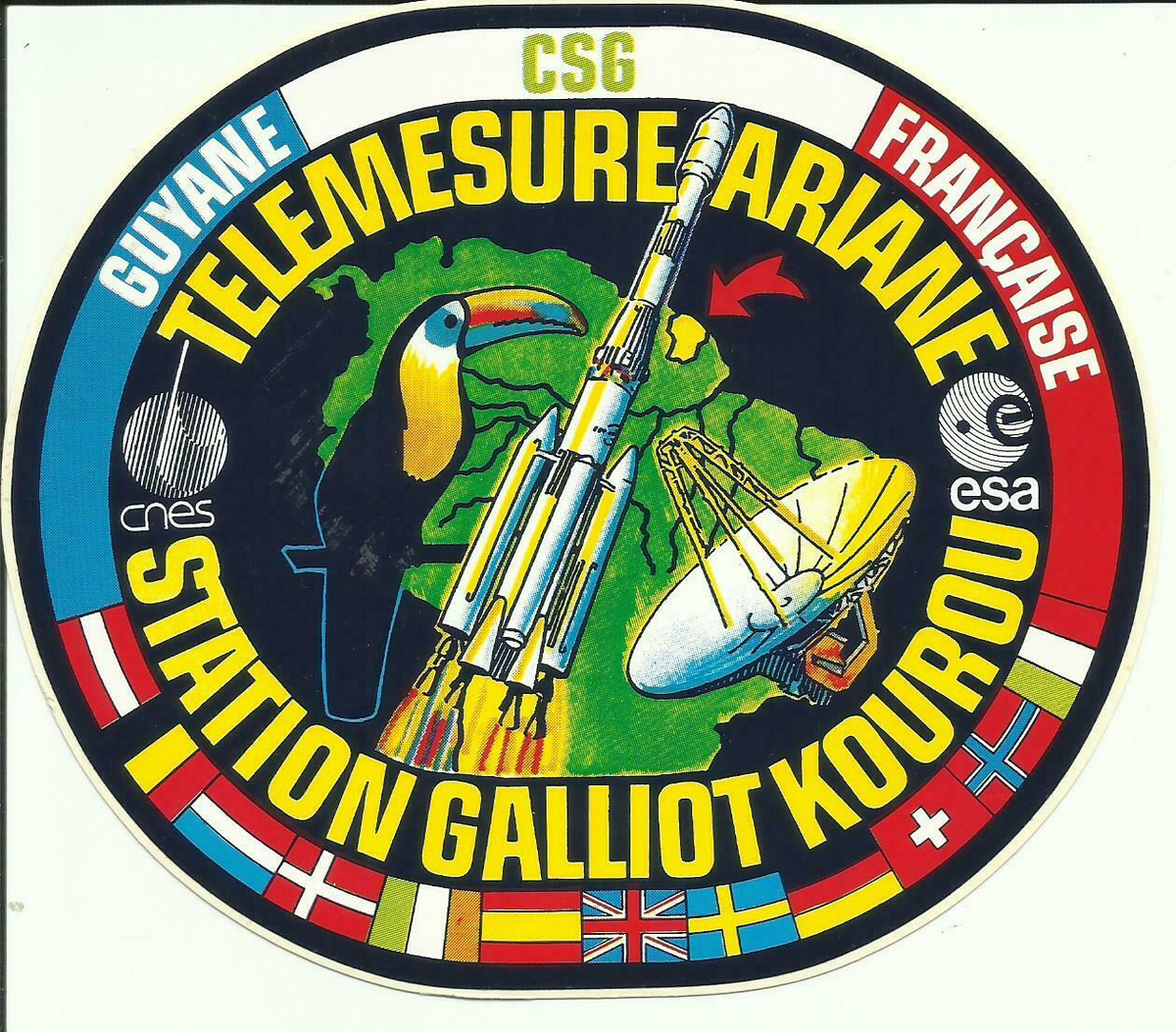 Never knew the Galliot tracking station had its own sticker...  #CSG #ESA https://t.co/TYFMQ3qUBz