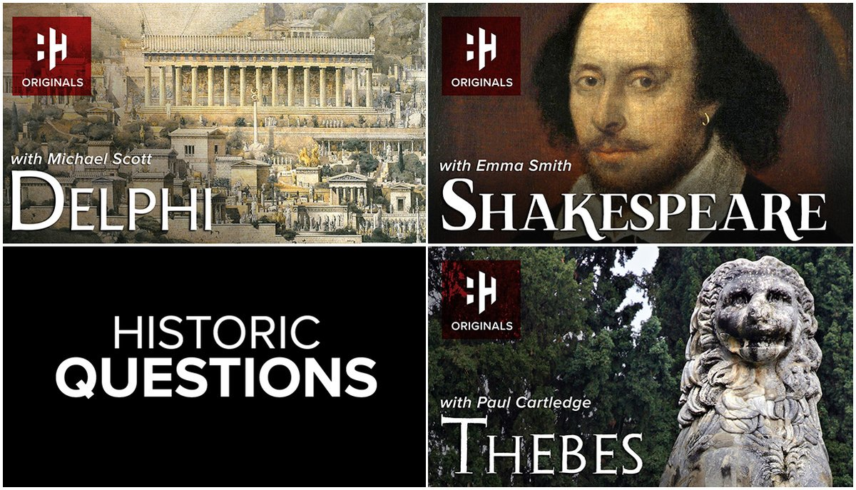 We've just released our latest Historic Questions episodes on @HistoryHit, featuring @profmcscott, @oldfortunatus and Paul Cartledge. Please have a watch. Signup today and get 30 days free (£5.99 a month thereafter) 👉