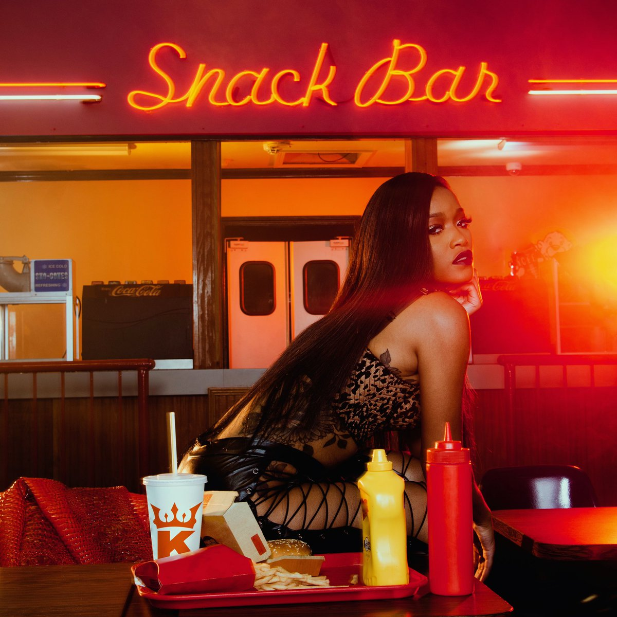 """""""It's a record that doesn't take itself serious. Something fun to loosen you up."""" - @kekepalmer 🍒   Enjoy her new single #SNACK"""