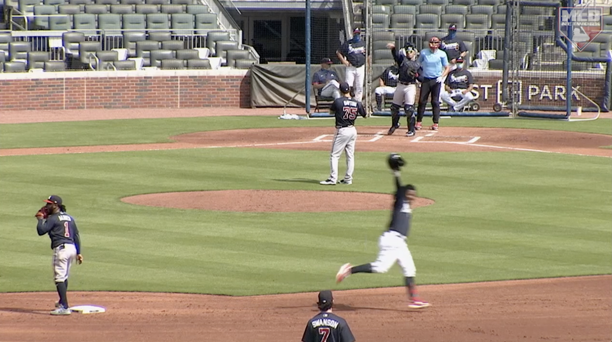 A homer and a tip of the cap by @ronaldacunajr24 💪 @Braves | NTT #BallparkCam