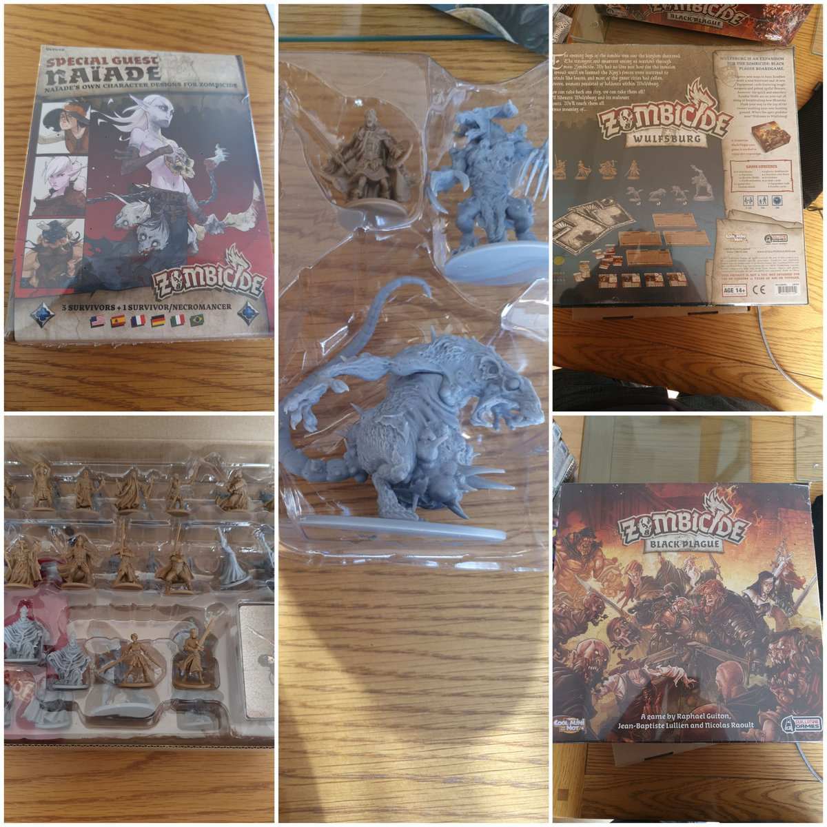 Just been in the garage and listed all my #zombicide  black plague ks stuff... not even played it yet so less games mountain hopefully https://t.co/MpXCO7ZlYP