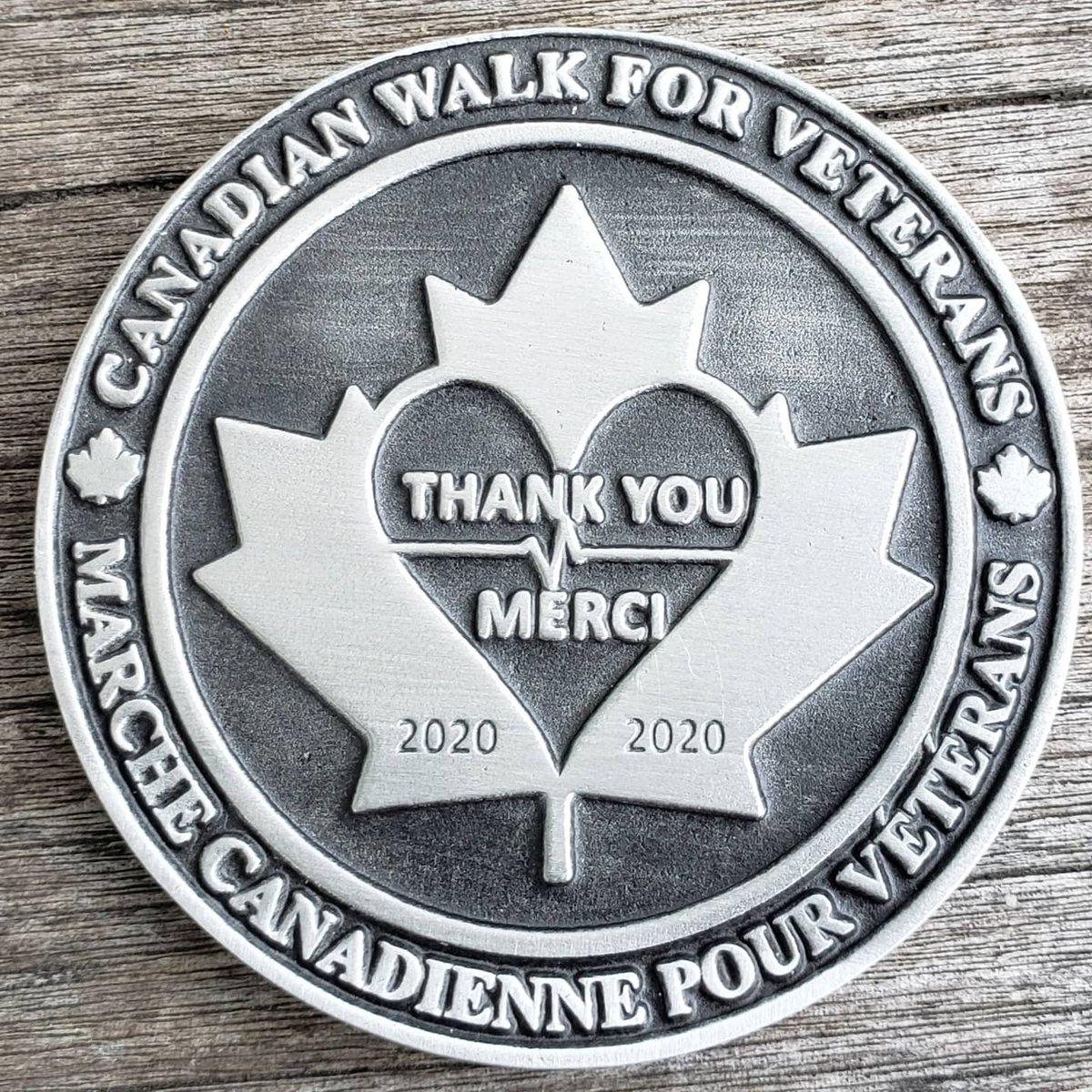@Canwalk4vets 2020 Challenge Coin Stay tuned for a big announcement coming tomorrow!  #veteran #veteranadvocate #vetshelpingvets #serviceandsacrifice #walkandtalk #shoulder2shoulder #challengecoin #canwalk4vets #rca #rcn #rcaf #firstresponders #frontlineworkers #essentialworkers https://t.co/k7srIuW8A3