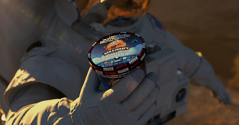 One small scoop for you, one giant bowl for the heroes of the Netflix comedy @realspaceforce. Watch now, only on @netflix! Find Boots On The Moooo'n near you soon: https://t.co/37gb1mV66e https://t.co/KUWdyACUNO