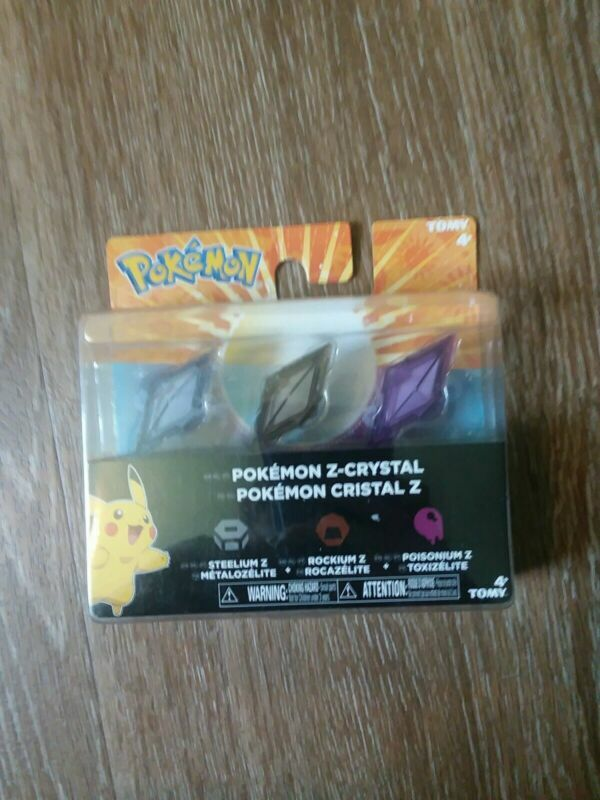 Tomy #Pokemon Z Crystal Steelium Rockium Poisonium - #3DS Sun Moon Compatible #ebay 🔥🔗