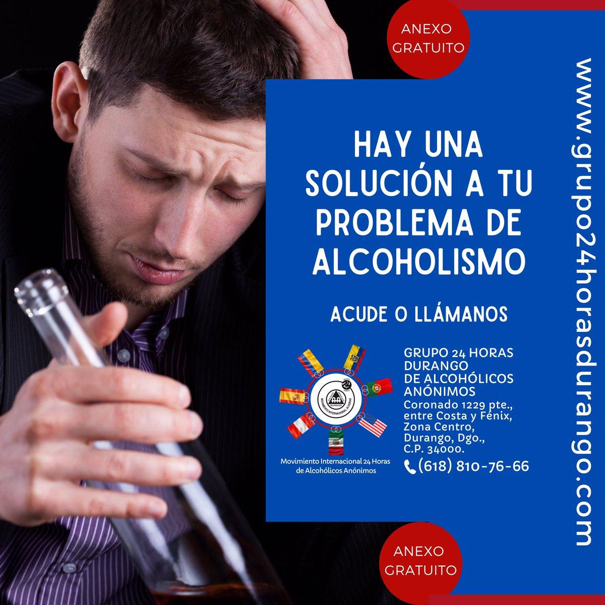 Atendemos problemas de alcoholismo y/o drogadicción.  ANEXO GRATUITO. Grupo 24 Horas Durango de Alcohólicos Anónimos,  Coronado 1229 pte., entre Costa y Fénix, Zona Centro,  Durango, Dgo. Tel: (618)810-76-66  http://grupo24horasdurango.compic.twitter.com/OY1KtheKRG