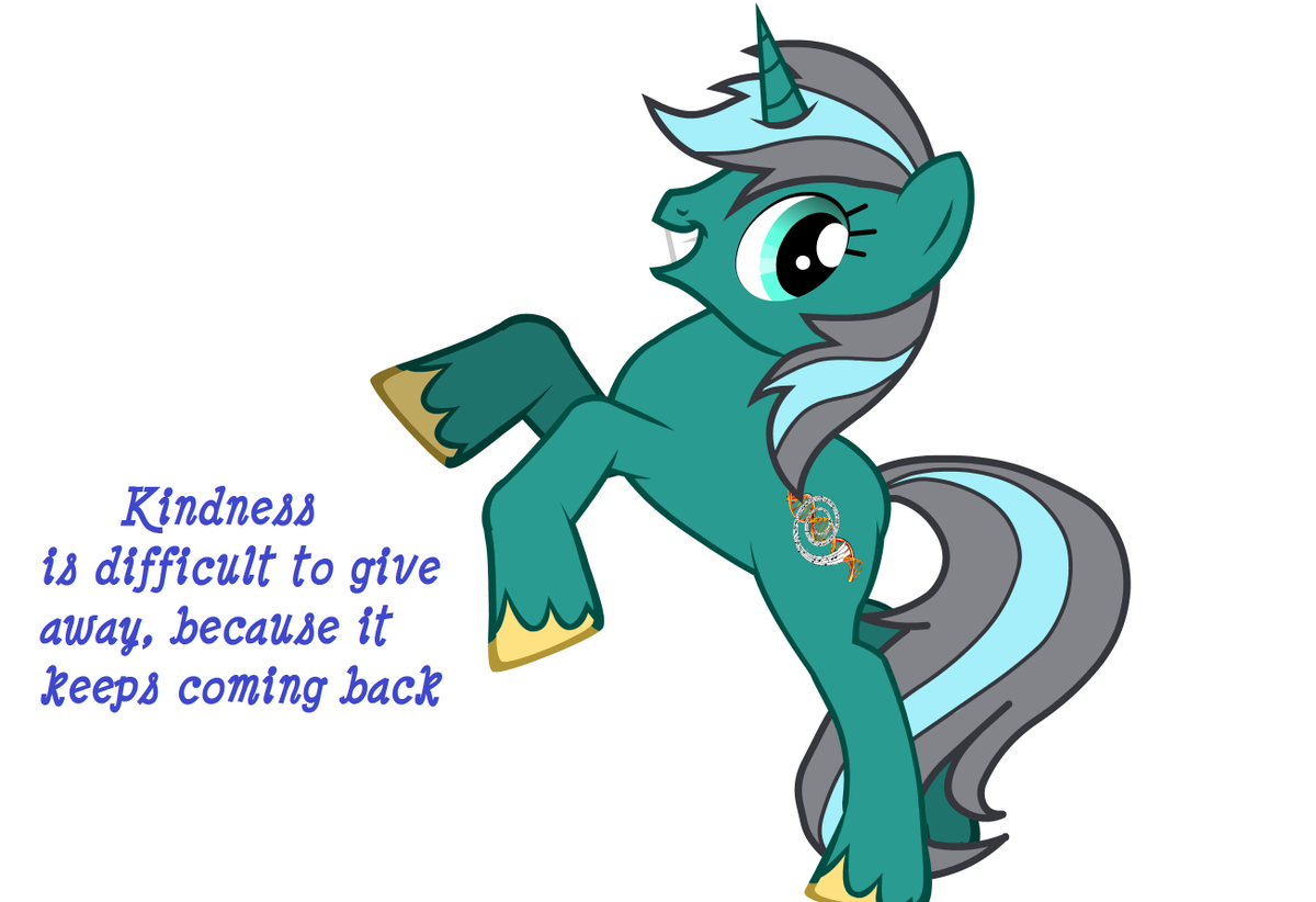 Kindness is difficult to give away, because it keeps coming back - #MLPFiM #kindness <br>http://pic.twitter.com/NrelusJWXY