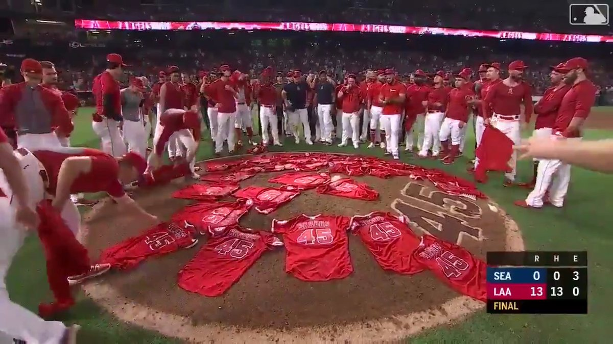 OTD last year, the Angels honored Tyler Skaggs and threw a combined no-hitter.