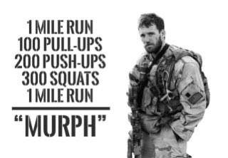 Knocked out my first ever @murphchallenge today. 51:18min in 113 degree heat. . . . . . #KeepWorking #murphchallenge pic.twitter.com/7Rm4R9WxPU