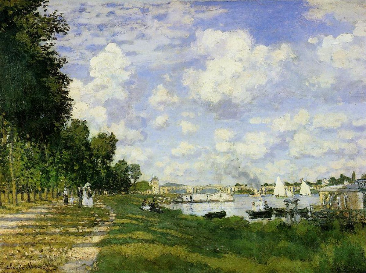 """Claude Monet on Twitter: """"The Basin at Argenteuil, 1872  https://t.co/CezDj3mQi6 #impressionism #frenchart… """""""
