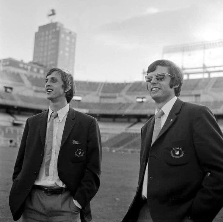 #JohanCruyff and #WimSuurbier at stadium #Bernabéu https://t.co/j8Tgl1a2yd