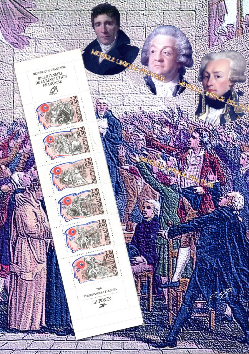 Delighted to make you wax a creation from my #etsy shop: famous people of the French Revolution, photo montage, digital painting and philately, by JFBdecor.  #anniversary #blue #independenceday #fathersieyes #countofMirabeau #Lafayette
