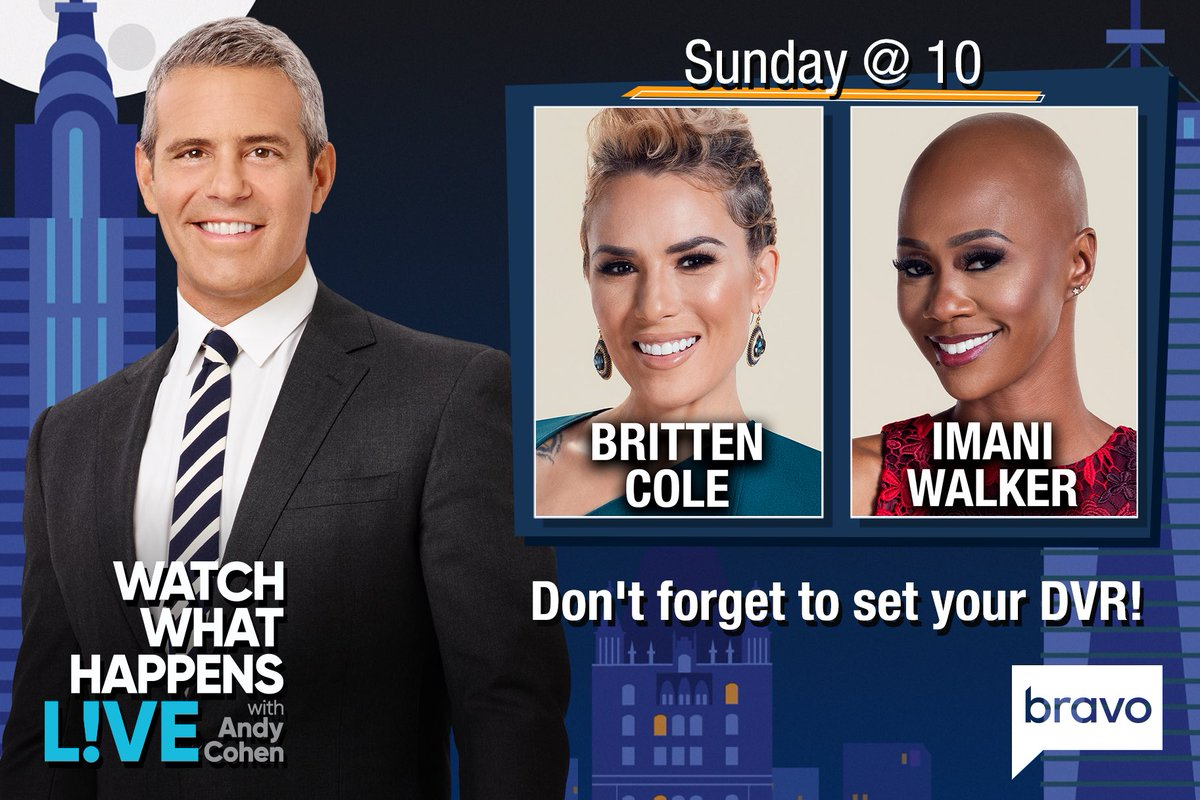 TONIGHT at 10/9c, it's #WWHL at Home with @BrittenColeMD & @Doctor_Imani from #Married2MedLA!