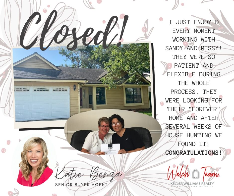 🎉#Congratulations to our sweet sweet buyers for finding their #FOREVERHOME 🏡  If you're thinking about #Buying, #Selling or #Investing, ☎️ 904.476.5539. We would love to help you.   #katiebenza #welchteam #justsoldinjacksonville #helpingbuyers #closed #kellerwilliams #jax #kw https://t.co/zpE7xiu9hg