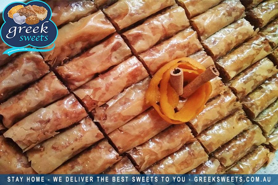 Traditional Greek sweets and more delivered in Sydney, FREE shipping. Get our famous Baklava delivered at home or work.  #galaktoboureko #sweet #dessert #dessertlovers #dessertblogger #desserttime #greeksweets #friends #family #tagafriend #tellafriend #sydneyfood #sydney #baklavapic.twitter.com/xyGH6JBqJW