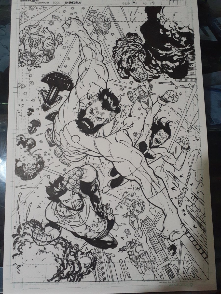 Another page for the inking portfolio. Pencils by @RyanOttley . Inks by me. #Invincible #imagecomics #INKS #comicart #Superheroes #ryanottley #robertkirkman https://t.co/1WxB4S26c1