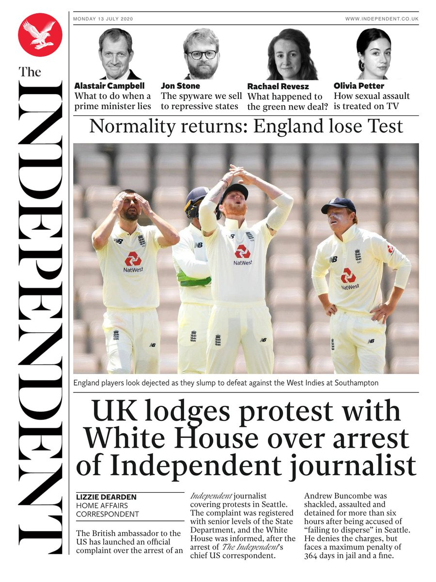 INDEPENDENT DIGITAL: UK lodges protest with White House    over arrest of journalist #TomorrowsPapersToday https://t.co/Fh01uvIfPd