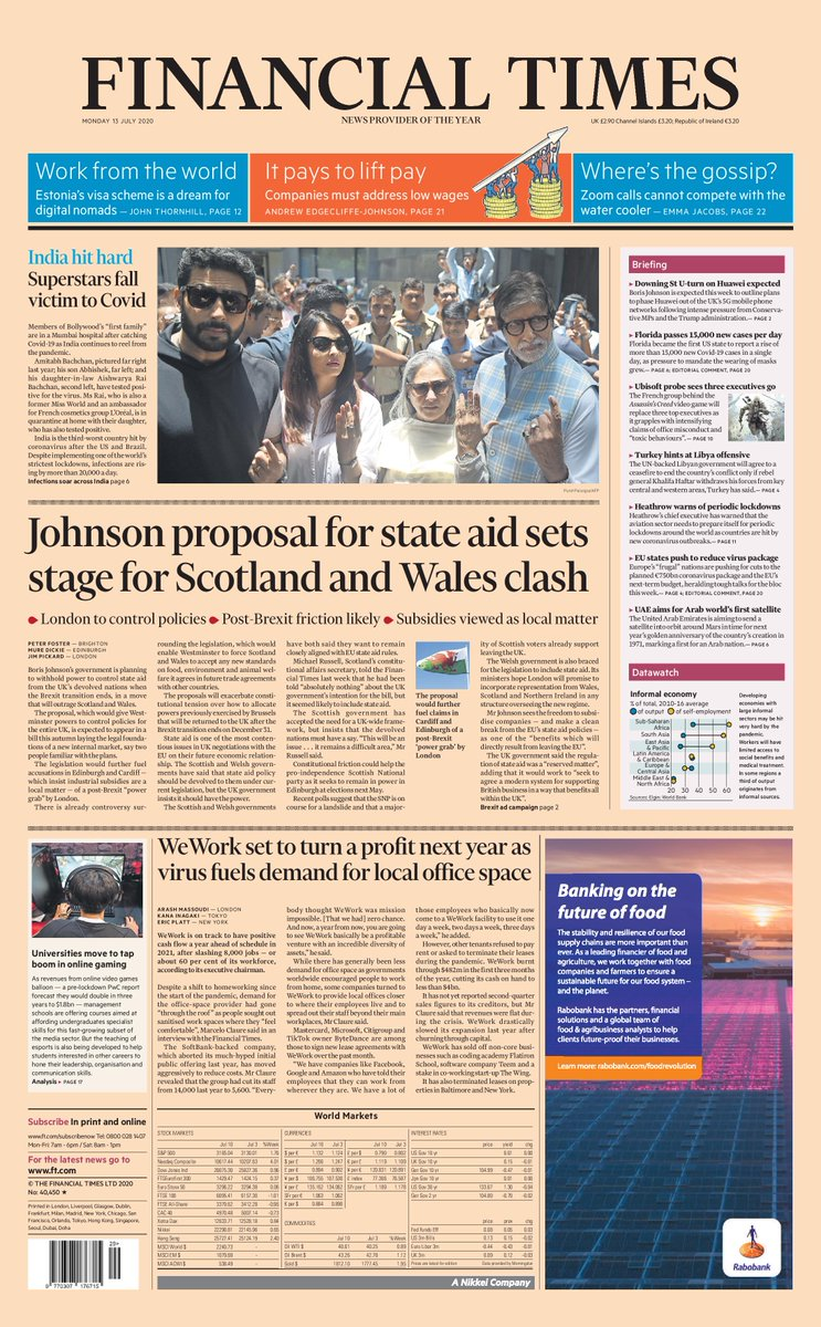 Just published: front page of the Financial Times UK edition, Monday July 13 https://t.co/TddYIyyhNV https://t.co/egUMGrT95Y