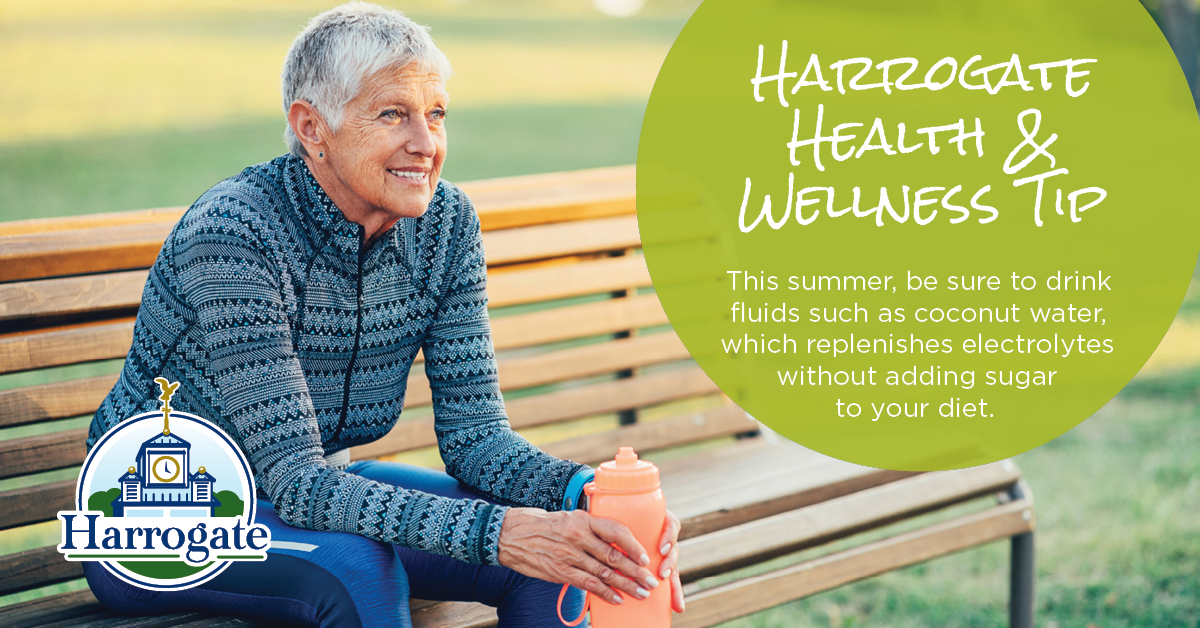 ✅  #Harrogate Health & Wellness Tip: This #Summer, stay hydrated and consider fluids like coconut water, which replenishes electrolytes without adding sugar to your diet. 🥥  It tastes delicious and is refreshing in the warm heat.