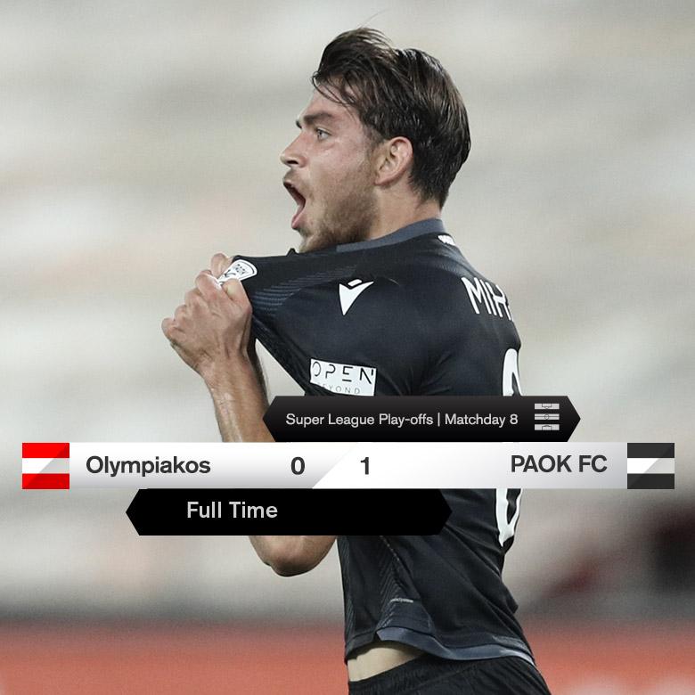 #FinalScore Τελικό αποτέλεσμα στον Πειραιά: Ολυμπιακός-ΠΑΟΚ 0-1 #OLYPAOK #slgr #PlayOffs #NaiRePAOKARA https://t.co/vMyHmCtspx