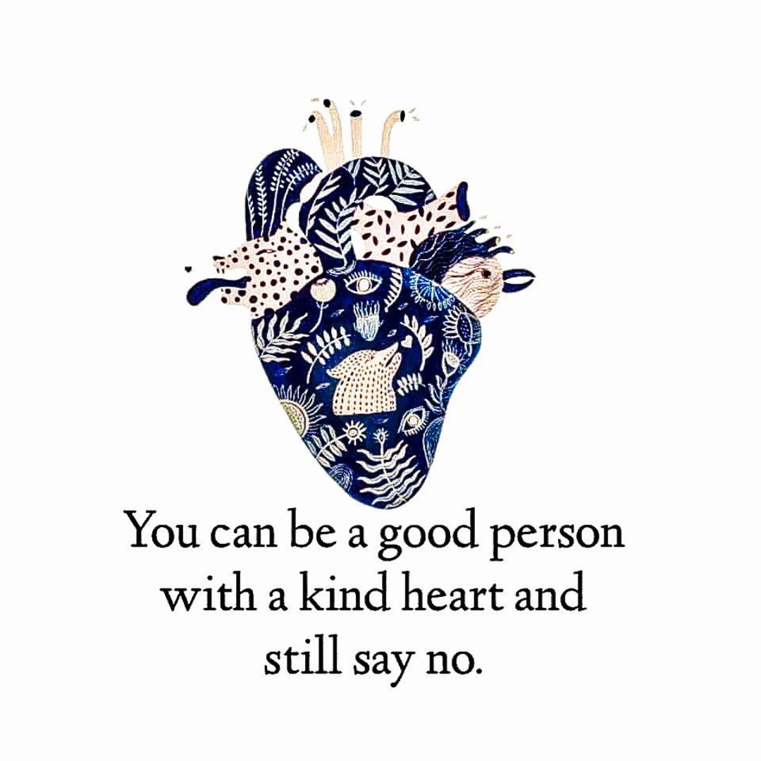 """You can be a good person with a kind heart and still say """"no."""" #MentalHealth #SelfCare #Boundaries #Compassion #SelfCompassion #Healing #Trauma #CSA #MeToo  @RachelintheOC https://t.co/g8pu8RABzj"""