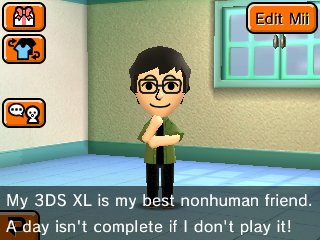 Me too my Mii look alike....We both have the same energy.... #TomodachiLife #3DS