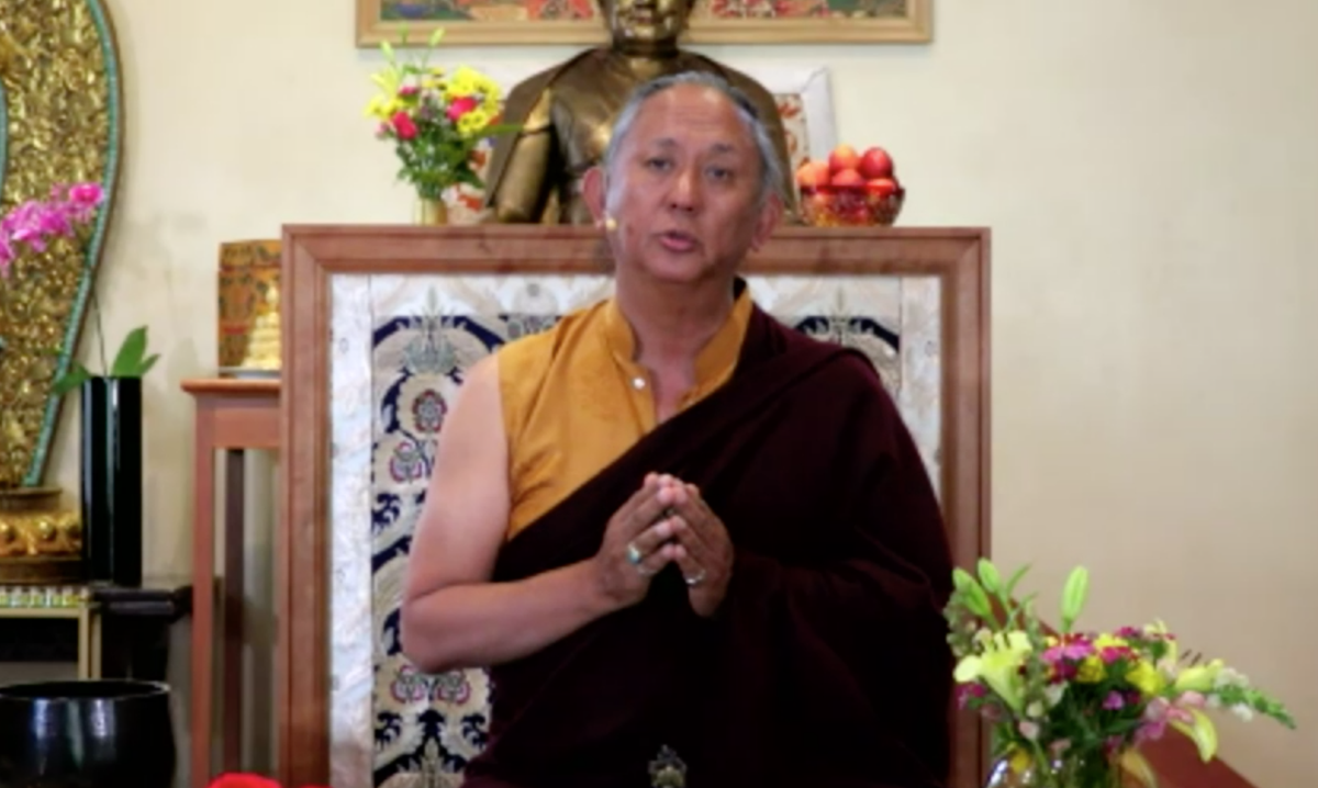 Rinpoche's talk on the bodhisattva path and vow begins now. Join us for the free video stream. https://t.co/qpyrbfFNxx  #buddhism #meditation #compassion #mahayana #bodhisattva https://t.co/Pe3LnDG1JN