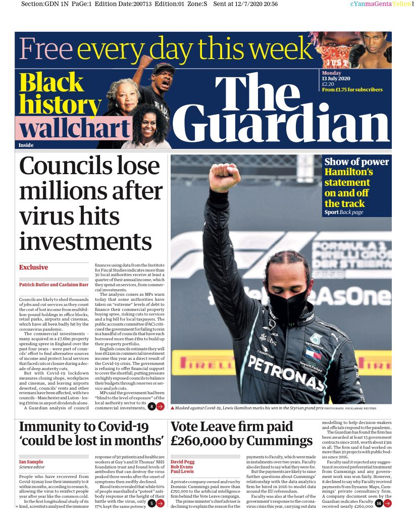 GUARDIAN: Councils lose millions after virus hits investments #TomorrowsPapersToday https://t.co/tdUIxXSU0T