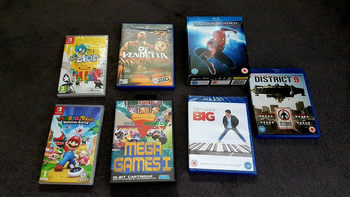 This weeks pickups, been a long time since I last watched Big. #GamersUnite #ShareYourGames #NintendoSwitch #retrogaming pic.twitter.com/MA2NyAx1qj