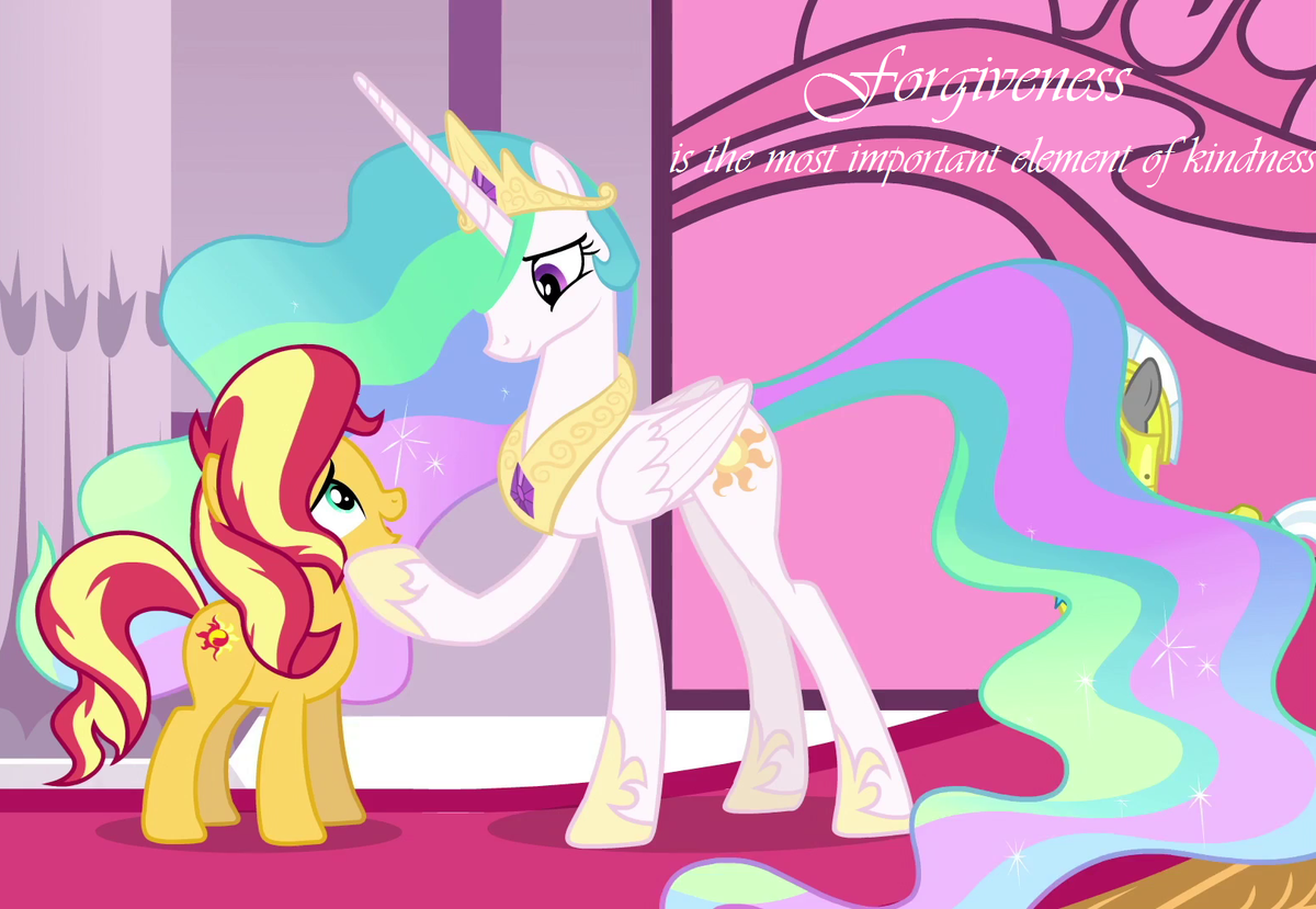Forgiveness is the most important element of kindness - Sunset Shimmer #MLPFiM #kindness <br>http://pic.twitter.com/312kE41fH6