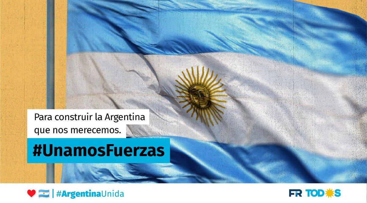 #UnamosFuerzas para que en unidad superemos la pandemia y construyamos la Argentina que nos merecemos.  Unidos somos más https://t.co/GmV0mITpSR
