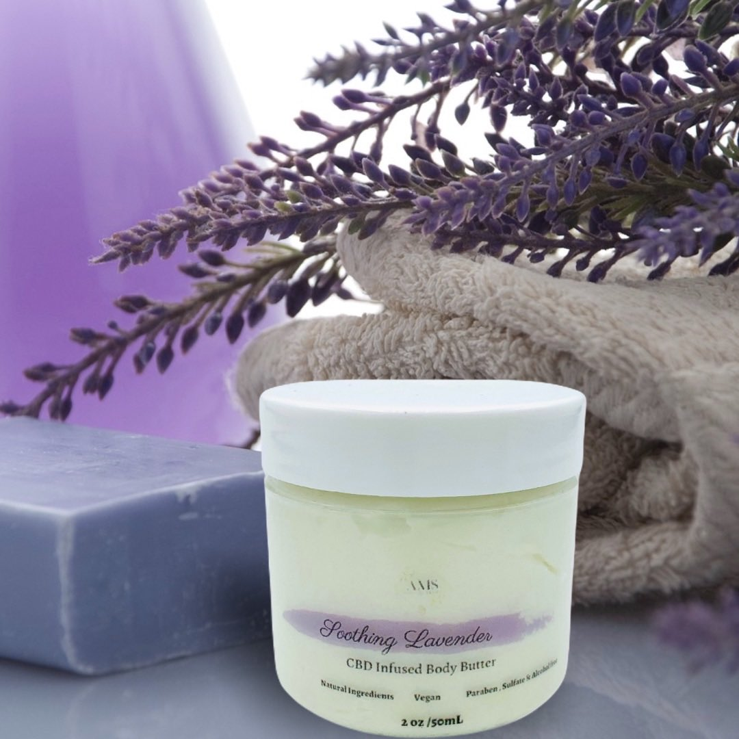 #CBD Infused #Lavender #Body Butter now available at http://aboutmyhaircare.com    #BlackBusiness #SupportBlackBusiness  #SelfCareSundaypic.twitter.com/B9D6ayi6DS