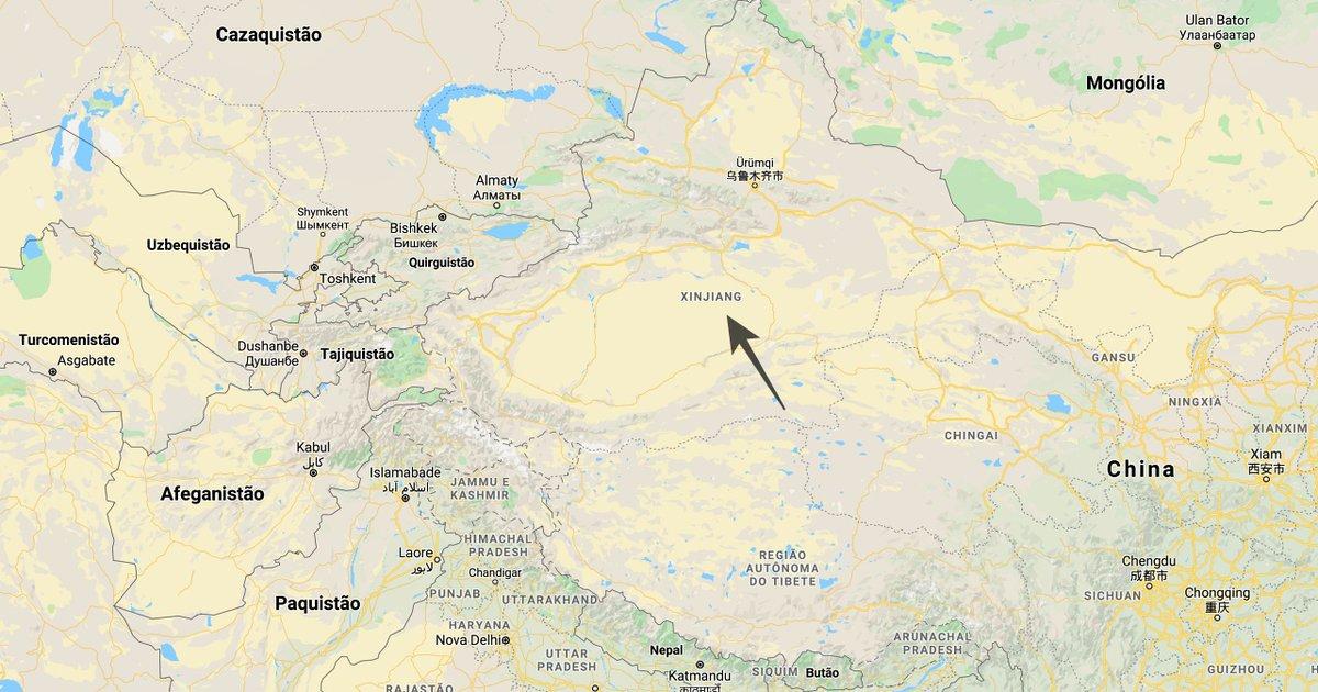 """Xinjiang faz fronteira com Mongólia, Rússia e 4 dos 7 países no mundo com o sufixo """"istão"""": Cazaquistão, Quirguistão, Tajiquistão e Afeganistão.  Os outros 3 estão próximos: Paquistão, Turcomenistão e Uzbequistão.  """"Istão"""" vem da raiz iraniana """"stan"""" (""""lugar de morada""""). pic.twitter.com/NsI6RbHIWs"""