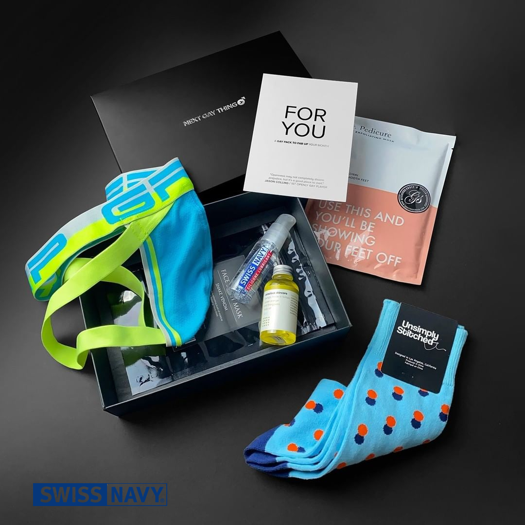 Next Gay Thing the monthly Gay Pack Providers are currently offering Swiss Navy in their latest pack. We think you should subscribe to their packs and get all these goodies sent to your door, with Swiss Navy of course! go to nextgaything.com #swissnavylube #nextgaything
