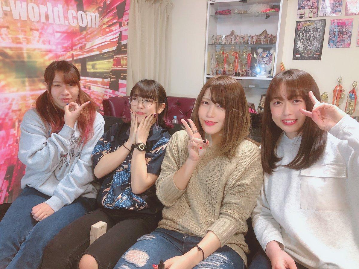 Daily pic  Qq is the best team are very united  #Stardom #QueensQuest #Azm #SayaKamitani #MomoWatanabe #UtamiHayashishita #渡辺桃 #上谷沙弥 #林下詩美 #スターダム https://t.co/tEpXtYnVpj