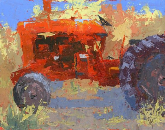 """""""Abstract Red Tractor"""" original abandoned Farmall tractor painting, 11"""" X 16"""" available in my Etsy store: https://buff.ly/3iSVHEd … #abandoned #art #originalart #originalpainting #knifepainting #artforsale #vintagetractor #Farmall #farmtractorpic.twitter.com/MiLxB7grtU"""